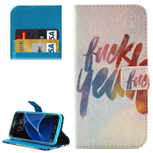 For Galaxy S7 Colorful Pattern Leather Case with Holder, Card Slots & Wallet