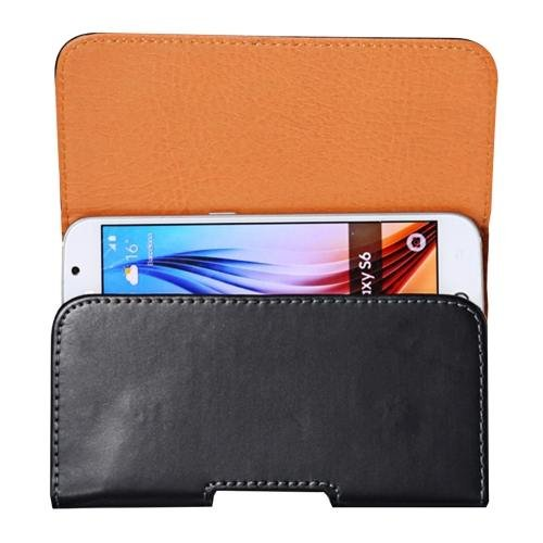 For Galaxy S7 Smooth Surface Leather Case Waist Bag with Back Splint