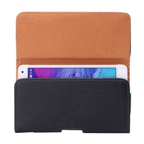 For Galaxy S7 Litchi Leather Case Waist Bag with Back Splint