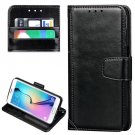 For Galaxy S7 Black Crazy Horse Leather Case with Wallet & Photo Frame
