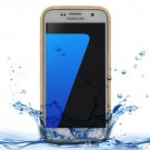 For Samsung Galaxy S7 3ATM Life Waterproof Gold TPU Protective Case
