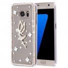For Galaxy S7 Diamond Encrusted Pearl Fairy Pattern Plastic Case