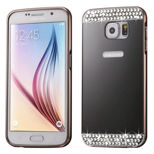 For Galaxy S7 Black Electroplating Back Shell Cover + Metal Bumper Frame