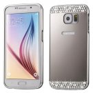 For Galaxy S7 Silver Electroplating Back Shell Cover + Metal Bumper Frame
