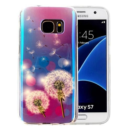 For Galaxy S7 IMD Dandelions Pattern Blu-ray Soft TPU Protective Case