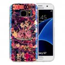 For Galaxy S7 IMD Flowers Pattern Blu-ray Soft TPU Protective Case