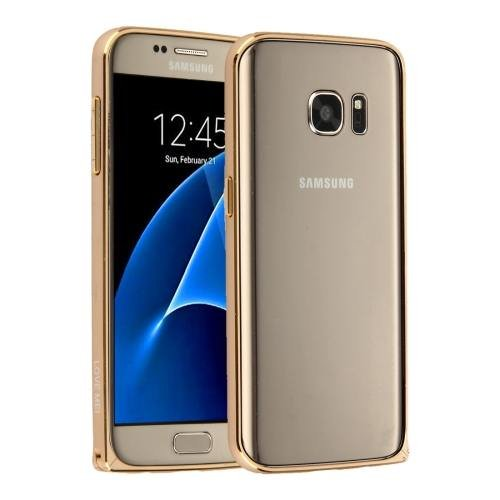 For Galaxy S7 Gold Hippocampal LOVE MEI Buckle Metal Aluminum Bumper Frame