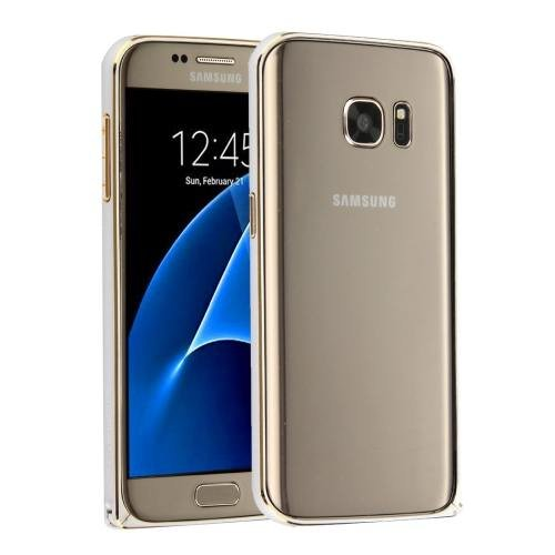 For Galaxy S7 Silver Hippocampal LOVE MEI Buckle Metal Aluminum Bumper Frame
