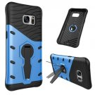 For Galaxy S7 Blue Rotating Spin Tough Armor TPU+PC Case with Holder