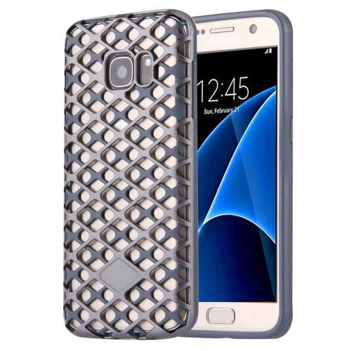 For Galaxy S7 Coppery URBAN KNIGHT Grid Texture PC + TPU Protective Case