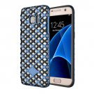 For Galaxy S7 Blue URBAN KNIGHT Grid Texture PC + TPU Protective Case