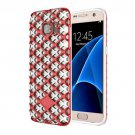 For Galaxy S7 Red URBAN KNIGHT Grid Texture PC + TPU Protective Case