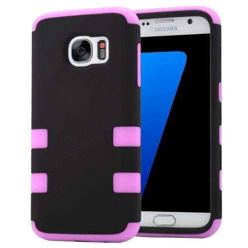 For Galaxy S7 Pink Shock-resistant Silicone + PC Protective Case