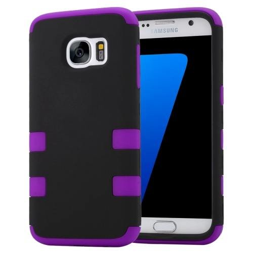 For Galaxy S7 Purple Shock-resistant Silicone + PC Protective Case