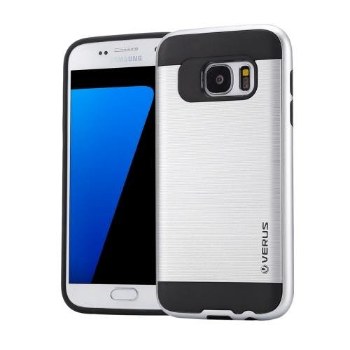 For Galaxy S7 Silver Verus Brushed Texture PC + TPU Protective Case