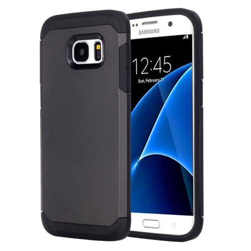 For Galaxy S7 Black TPU + PC Armor Combination Case