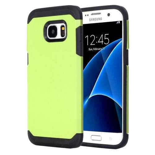 For Galaxy S7 Light Green TPU + PC Armor Combination Case