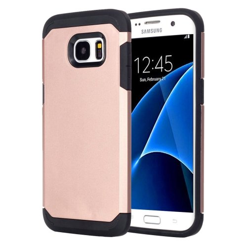 For Galaxy S7 Rose Gold TPU + PC Armor Combination Case