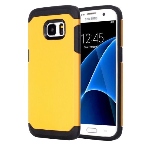 For Galaxy S7 Yellow TPU + PC Armor Combination Case