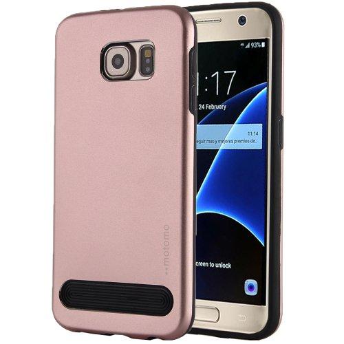 For Galaxy S7 Rose Gold MOTOMO Armor Metal + TPU Protective Case