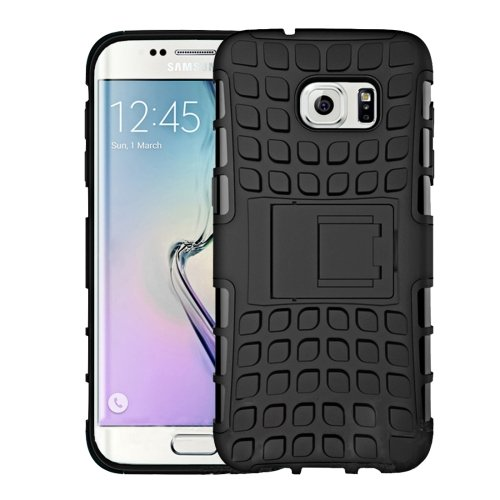 For Galaxy S7 Black Tire Combination Case with Separable Black Holder