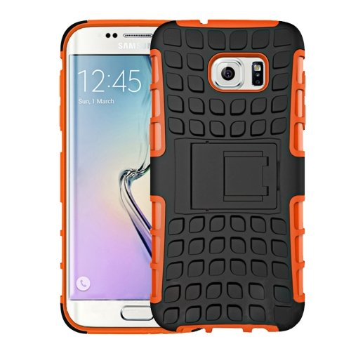 For Galaxy S7 Orange Tire Combination Case with Separable Black Holder