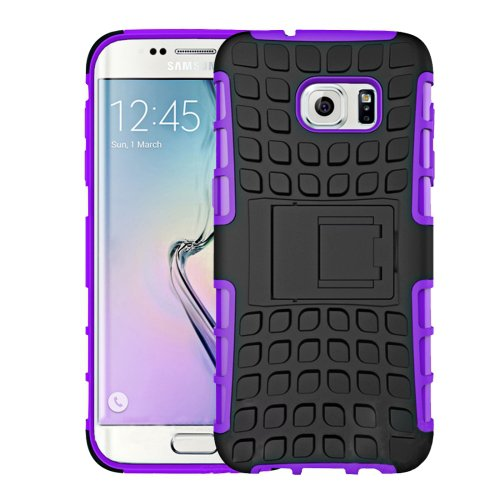 For Galaxy S7 Purple Tire Combination Case with Separable Black Holder