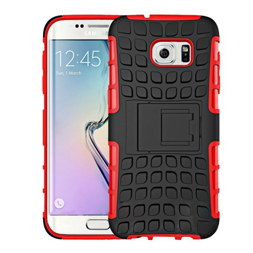 For Galaxy S7 Red Tire Combination Case with Separable Black Holder