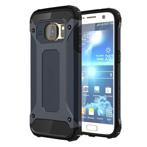 For Galaxy S7 Dark Blue Tough Armor TPU + PC Combination Case