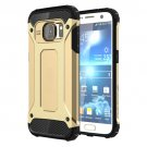 For Galaxy S7 Gold Tough Armor TPU + PC Combination Case