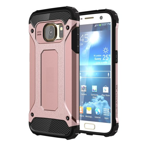 For Galaxy S7 Rose Gold Tough Armor TPU + PC Combination Case