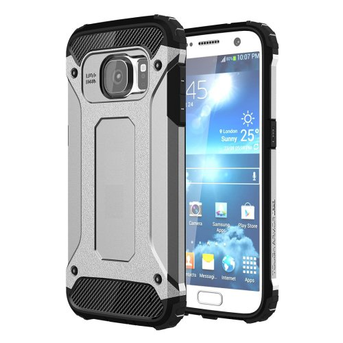 For Galaxy S7 Silver Tough Armor TPU + PC Combination Case