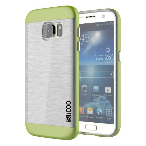 For Galaxy S7 Green Slicoo Separable Brushed TPU + Electroplating PC Case