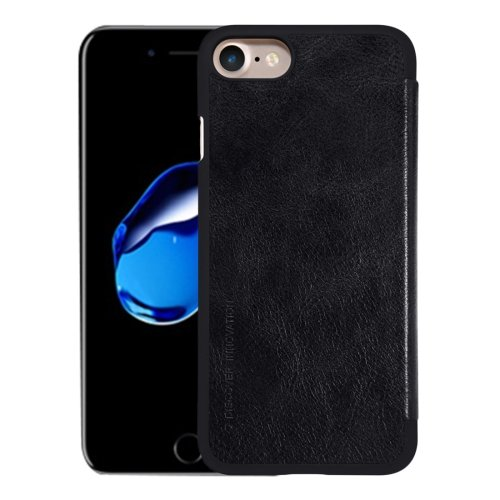 For iPhone 7 Black NILLKIN QIN Flip Leather Case with Card Slot