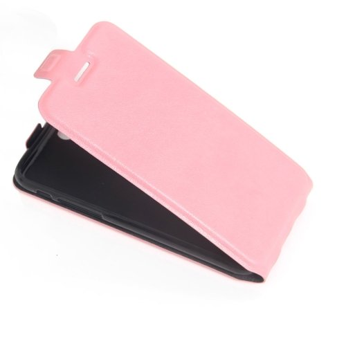 For iPhone 7 Pink Vertical Flip Leather Case with Card Slot & Photo Frame