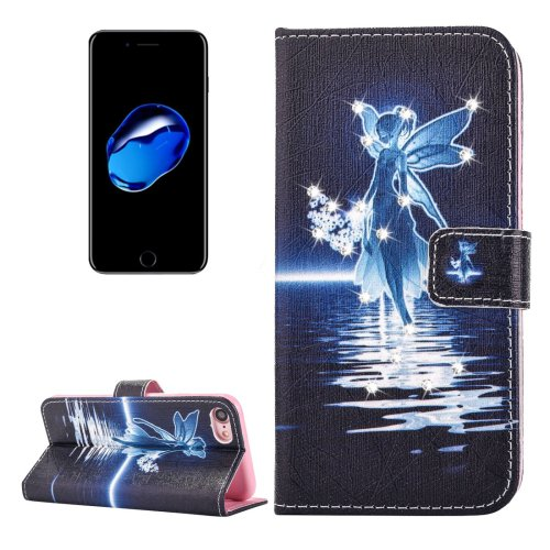 For iPhone 7 Fairy Diamond Leather Case with Card Slots & Wallet