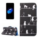 For iPhone 7 Cats Pattern PU Leather Case with Holder, Card Slots & Wallet