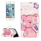 For iPhone 7 Pudding Bear Leather Case with Holder & Card Slots & Wallet