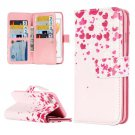For iPhone 7 Flower Leather Case with Holder & 9 Card Slots & Wallet