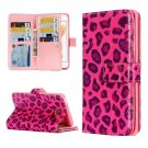For iPhone 7 Leopard Leather Case with Holder & 9 Card Slots & Wallet