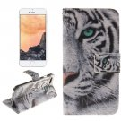 For iPhone 7 Tiger Pattern Leather Case with Holder, Card Slots & Wallet