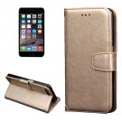 For iPhone 7 Gold Knead Skin Leather Case with Holder, Card Slots & Wallet
