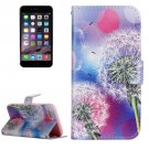 For iPhone 7 Dandelion Floral Leather Case with Holder, Card Slots & Wallet