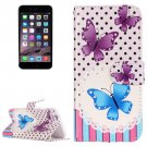 For iPhone 7 Painting Butterfly Leather Case with Holder, Card Slots & Wallet