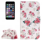 For iPhone 7 Painting Rose Leather Case with Holder, Card Slots & Wallet