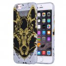 For iPhone 7 Water Decals Cartoon Animal Wolf Pattern PC Protective Case