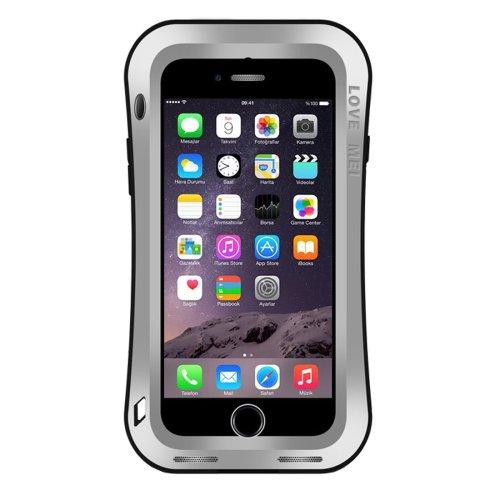 For iPhone 7 Silver LOVE MEI Dustproof Shockproof Anti-slip Metal Case