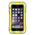For iPhone 7 Yellow LOVE MEI Dustproof Shockproof Anti-slip Metal Case