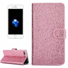For iPhone 7 Plus Pink Raindrops Leather Case with Holder & Card Slots