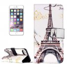 For iPhone 7 Plus Eiffel Tower Leather Case with Card Slots, Wallet & Holder
